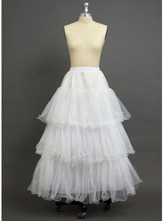 Petticoats Floor-length Tulle Netting/Organza A-Line Slip 3 Tiers Petticoats