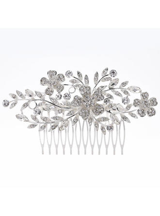 "Combs & Barrettes Wedding/Special Occasion Rhinestone/Alloy 4.53""(Approx.11.5cm) 2.56""(Approx.6.5cm) Headpieces"