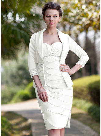 Beautiful Sweetheart Sheath/Column Satin Mother of the Bride Dresses