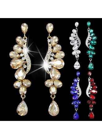 Earrings Alloy/Rhinestones Pierced Ladies' Romantic Wedding & Party Jewelry