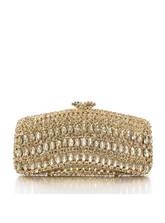 Bridal Purse/Luxury Clutches Wedding/Ceremony & Party Alloy/Silver Plated Magnetic Closure Elegant Clutches & Evening Bags (012185815)