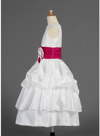 off white chiffon flower girl dresses