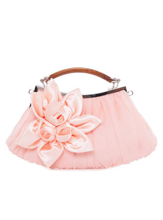 Clutches/Wristlets Wedding/Ceremony & Party Satin/Silk Kiss lock closure Elegant Clutches & Evening Bags