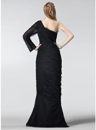 short sleeve long evening dresses