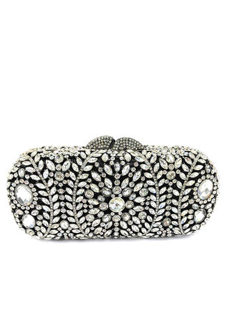 Clutches/Luxury Clutches Wedding/Ceremony & Party/Casual & Shopping Crystal/ Rhinestone/Alloy Kiss lock closure Gorgeous Clutches & Evening Bags