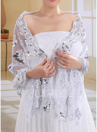 Wrap Wedding Lace Sequined Sleeveless Other Colors Wraps
