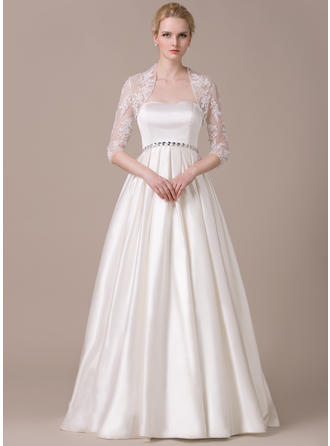 Fashion Floor-Length A-Line/Princess Wedding Dresses Sweetheart Satin Sleeveless