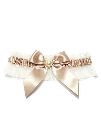 Strumpfbänder Damen Hochzeit/besondere Anlässe Satin mit Perle Strumpfband