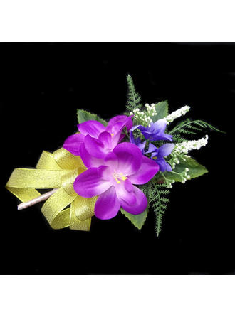 "Boutonniere Free-Form Wedding/Party Satin/Cotton 5.91""(Approx.15cm) Wedding Flowers"