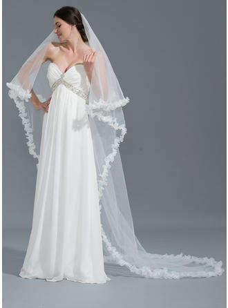 One-tier Chapel Bridal Veils