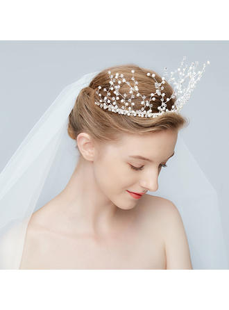 Unique Alloy Tiaras With Rhinestone/Venetian Pearl/Crystal (Sold in single piece)