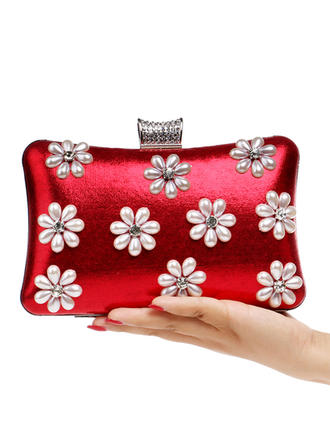 Clutches/Satchel Wedding/Ceremony & Party PU Kiss lock closure Elegant Clutches & Evening Bags