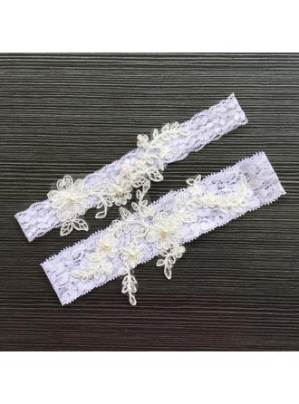Jarretière Femmes/Nuptiale Mariage/Occasion spéciale Dentelle avec De faux pearl Jarretières