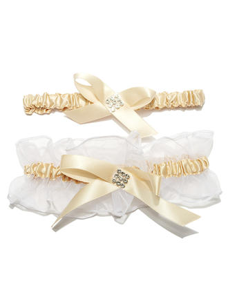 Garters Women Wedding/Special Occasion Satin/Organza With Rhinestone Garter