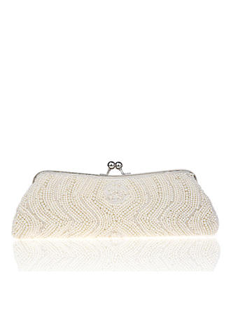 Clutches Wedding/Ceremony & Party Beading Kiss lock closure Delicate Clutches & Evening Bags