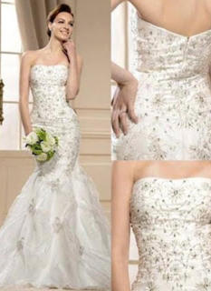 Trumpet/Mermaid Strapless Court Train Wedding Dress With Beading Appliques Lace