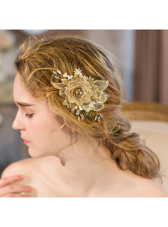 """Combs & Barrettes Wedding/Special Occasion/Party/Art photography Rhinestone/Imitation Pearls 4.33""""(Approx.11cm) 3.54""""(Approx.9cm) Headpieces"""