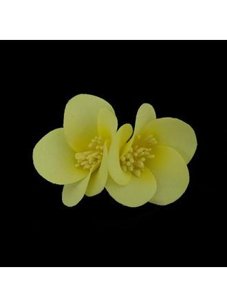 Precioso Seda artificiales Flores y plumas
