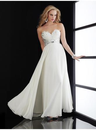 Empire Sweetheart Floor-Length Evening Dresses With Beading
