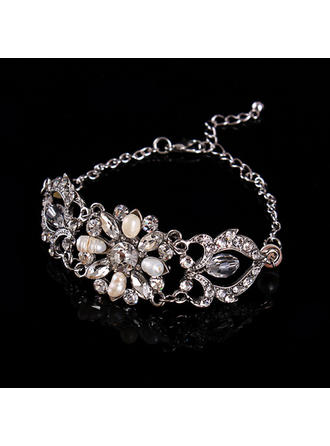 Bracelets Alloy/Rhinestones/Imitation Pearls Ladies' Fashional Wedding & Party Jewelry