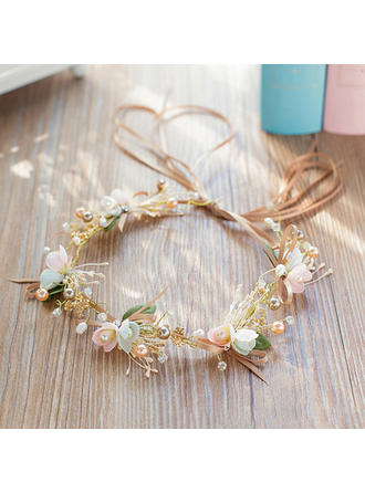 "Headbands Wedding/Party Rhinestone/Imitation Pearls/Silk Flower 13.78""(Approx.35cm) 1.97""(Approx.5cm) Headpieces (042158522)"