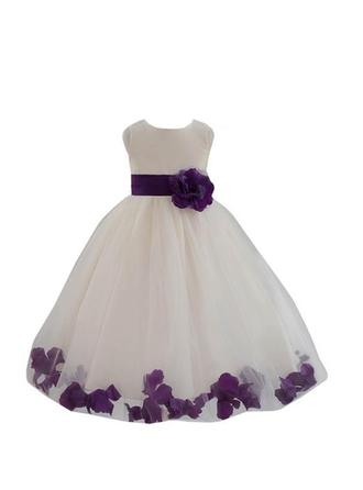 Ball Gown Scoop Neck Knee-length With Flower(s) Tulle Flower Girl Dress