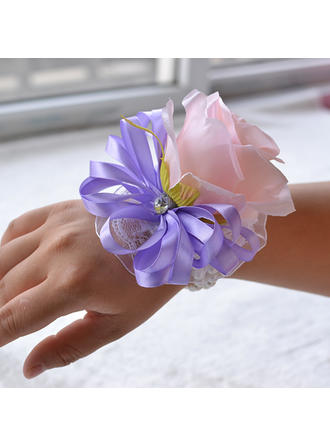 "Wrist Corsage Wedding Satin 5.91""(Approx.15cm) 3.94""(Approx.10cm) Wedding Flowers"