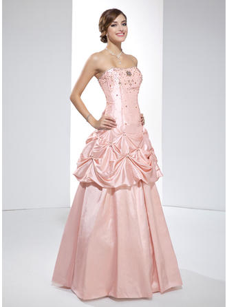 Magnificent Taffeta Prom Dresses A-Line/Princess Floor-Length Sweetheart Sleeveless
