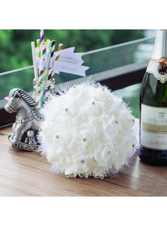 "Bridal Bouquets Round Wedding PE 9.45""(Approx.24cm) Wedding Flowers"