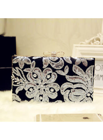 Clutches Wedding/Ceremony & Party Silk Push-lock frame closure Elegant Clutches & Evening Bags