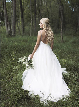 Sleeveless A-Line/Princess - Organza Wedding Dresses