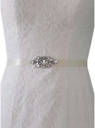 Women Satin With Rhinestones Sash Elegant/Simple Sashes & Belts