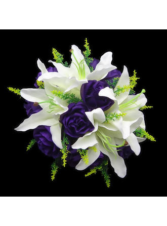 "Bridal Bouquets Round Wedding Satin 8.66""(Approx.22cm) Wedding Flowers"