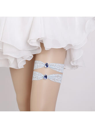 Garters Women/Bridal Wedding/Special Occasion Lace With Rhinestone Garter