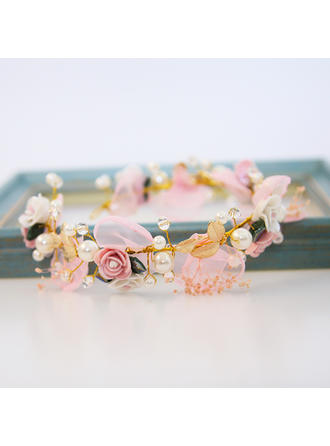 "Headbands Wedding/Special Occasion Alloy/Imitation Pearls/Chiffon 11.8""(Approx.30cm) 2.36""(Approx.6cm) Headpieces"