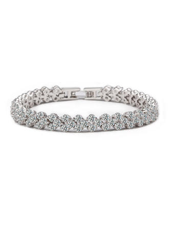 "Bracelets Zircon/Platinum Plated Ladies' Shining 6.69""(Approx.17cm)/7.48""(Approx.19cm) Wedding & Party Jewelry"