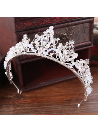 Ladies Gorgeous Rhinestone/Alloy Tiaras With Rhinestone (Sold in single piece) (042152675)