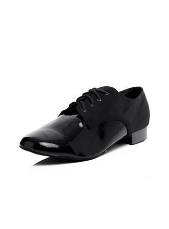 Men's Ballroom Heels Leatherette With Lace-up Dance Shoes