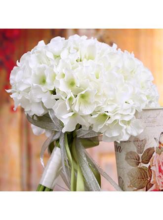 "Bridal Bouquets/Bridesmaid Bouquets Wedding Satin 12.60""(Approx.32cm) 8.66""(Approx.22cm) Wedding Flowers"