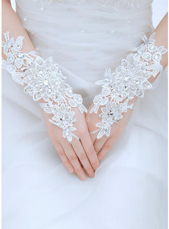 Lace Ladies' Gloves Wrist Length Bridal Gloves Fingerless Gloves (014191992)