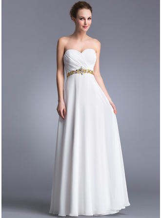Stunning Chiffon Prom Dresses A-Line/Princess Floor-Length Sweetheart Sleeveless