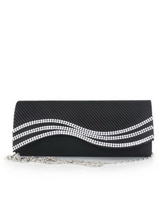 Clutches Wedding/Ceremony & Party Silk Magnetic Closure Elegant Clutches & Evening Bags