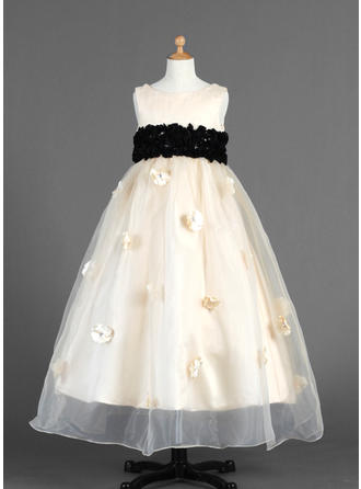 Ankle-length Sleeveless Organza/Charmeuse With Luxurious Flower Girl Dresses