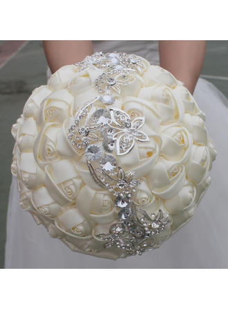 "Bridal Bouquets Round Wedding/Party Satin 9.84""(Approx.25cm) Wedding Flowers (123190075)"