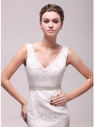 Women Satin With Rhinestones/Imitation Pearls Sash Beautiful Sashes & Belts