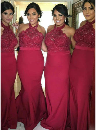 Trumpet/Mermaid Halter - Jersey Bridesmaid Dresses