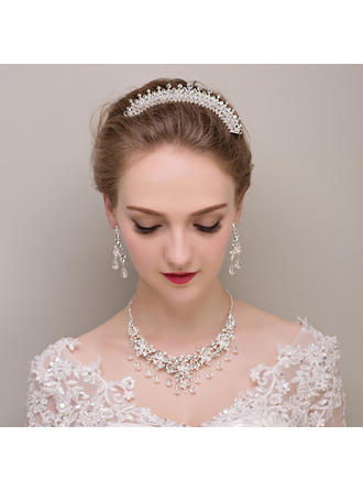 Jewelry Sets Alloy/Rhinestones/Imitation Pearls Earclip Ladies' Hottest Wedding & Party Jewelry