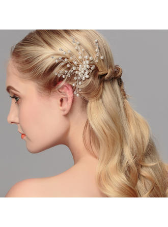 "Hairpins Wedding/Special Occasion/Party Crystal/Imitation Pearls 4.33""(Approx.11cm) 4.72""(Approx.12cm) Headpieces"