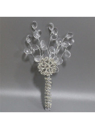 "Boutonniere Free-Form Wedding/Party/Casual Satin 7.87""(Approx.20cm) Wedding Flowers"