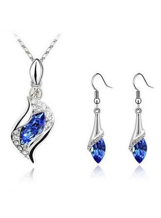 Jewelry Sets Alloy Crystal Pierced Fashional Wedding & Party Jewelry (011162778)